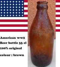 BOUTEILLE BIERE : AMERICAN WW2 BEER BOTTLE 33cl US 100% original marron /  brown
