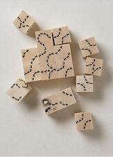 New Anthropologie Ant-Antics Wood Block Set Childrens Game Toy Handmade in USA