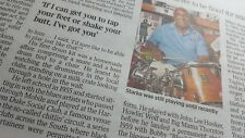 JABO STARKS DRUMMER FOR JAMES BROWN.Times Obituary. UK newspaper Clipping 10.518