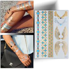 ►TATOUAGE TEMPORAIRE MÉTALLIQUE OR:Bracelet Aile d'ange (éphémère flash tattoo)◄