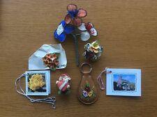 JOB LOT VINTAGE Floreale Cina spille, asole, etichette regalo, ornamento, Portachiavi