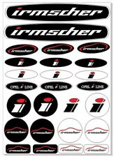 Irmscher Set Aufkleber Logo Sticker