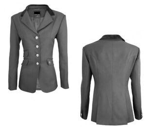 Equicomfort giacca equitazione gara concorso donna nera colletto velluto tg. 42