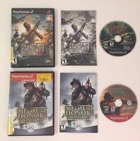 Lot Of 2 PS2 Games- Medal of Honor: Rising Sun & Medal Of Honor Frontline CIB