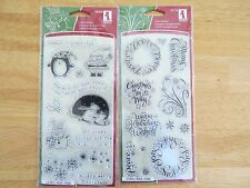 lot of 2 Inkadinkado clear stamps Christmas Characters & Warm Wishes lot X-1