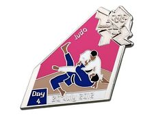 "OFFICIAL LICENSED LONDON 2012 OLYMPIC GAMES PIN / BADGE ""JUDO"" DAY #4"
