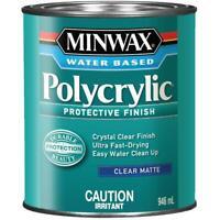 946mL Clear Matte Latex Polycrylic Finish