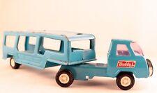 VINTAGE BUDDY L TRUCK W TRAILER 1960's Car Carrier/Transporter JAPAN Blue Tested