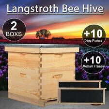10 Frame 1 Medium Box 1 Deep Box Queen Excluder Beehive Hive Bee Hive Frames