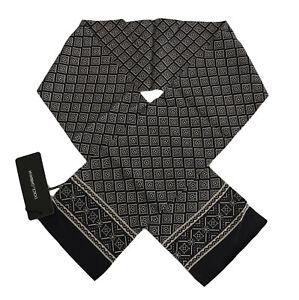 NEW $220 DOLCE /& GABBANA Scarf Bordeaux 100/% Silk Pattern Skinny Necktie 140x25