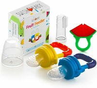 Baby Food Feeder Fresh Fruit Pacifier Infant Silicone + Teething Toy BPA Free