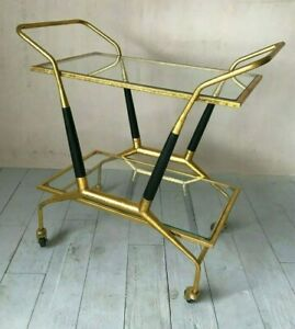 Graham and Green Caldwell Gold Drinks Trolley