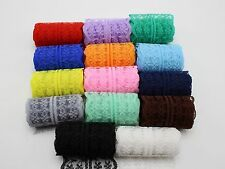 14 Meter Bilateral Handicrafts Embroidered Lace Trim Ribbon 14 Color Gift Bow