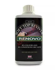 Renovo BLACK Soft Top Reviver, 1000ml Dyes Soft Top Convertible Canvas Car Roofs