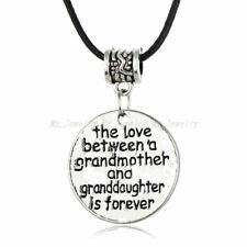 Family Love Gift Leather Necklace Pendant Heart Mother Grandmother Women New
