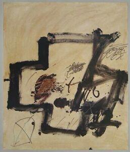 Antoni Tapies - Kreuzkomposition - Farboffset
