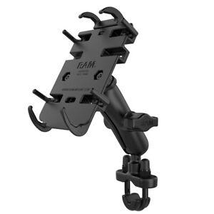 RAM Mount Motorcycle U-Bolt Handlebar Quick Grip Phone Kit iPhone Galaxy Pixel