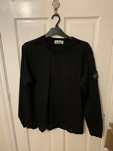 Men's Stone Island Sweatshirt | Black | Size L / Large | Verified Authentic