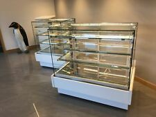Cake Display Fridge Square Glass, 1.4m long, LED lights White