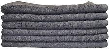 6 X Hand Towels Set 620gsm Pure Cotton Hotel Quality Popular Charcoal Colour