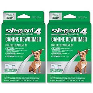 (1Box + 1Box) Safeguard Small Dog Dewormer Tapeworm Roundworm Hookworm Whipworm