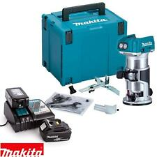 Makita DRT50ZJ 18V ROUTER/TRIMMER BL Body with Case + 2 BL1830 + DC18RC