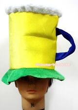 Yellow Green Soft Beer Tall Hat Warm Hat Party Costume Cosplay Headgear Cap