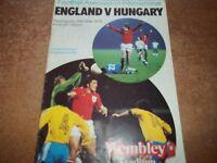 England v Hungary official football programme Wembley 24 May 1978 Friendly