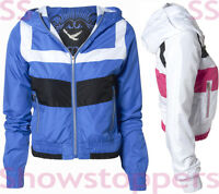 Size 8 10 12 14 Sporty GIRLS JOGGER JACKET VARSITY HOODY Ladies BOMBER Womens