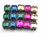 Fashion European Charming Gun Black Alloy Metal Square Crystal Bracelet Bangle