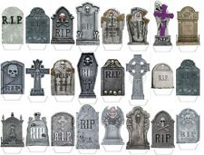 HALLOWEEN TOMBSTONES GRAVESTONES MIX 24X FLAT STAND UP Edible Cake Toppers D1