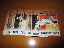 2012 Topps Update Baseball BLOCKBUSTERS Complete insert set of (30) cards QTY