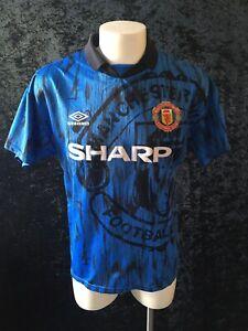 Manchester United Original Football Maglia Shirt & Shorts Kit 1992 93 Away Shirt