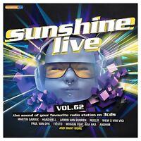 SUNSHINE LIVE VOL,62 - MARTIN GARRIX, ARMIN VAN BUUREN, HARDWELL U,A,  3 CD NEU
