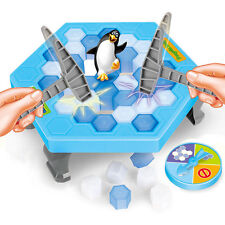 Funny Save the Penguin on Ice Game Break Ice Block Hammer Penguin Trap Party Toy