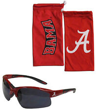 Alabama Crimson Tide Blade Sunglasses With Microfiber Bag UV 400 NCAA Licensed