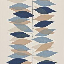 Sanderson Carta Da Parati, anni'50 Collection, design: MIRO, colore: Pebble/Navy