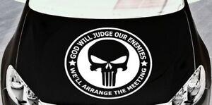 LARGE punisher car van bonnet side sticker vinyl graphic decal wall art skull vw