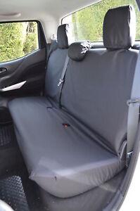 Black Tailored Waterproof Seat Covers Rear Back for Nissan Navara NP300 2016+