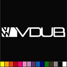 "2x VW VDUB DECAL 6"" STANCE EURO CAR WINDOW VINYL BUMPER STICKER"