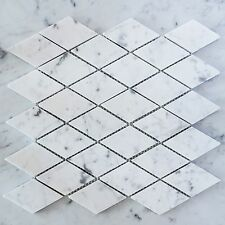 Carrara Marble Diamond Mosaic Tiles (Sheet)