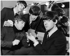 1964 The Beatles Backstage Wearing Suits England Black & White  8 X 10 Photo