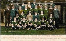1906 Springboks - South Africa v  London vintage rugby postcard