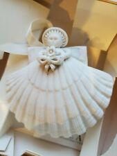 Margaret Furlong Flower Bouquet Shell Angel Ornament 1987 w Box