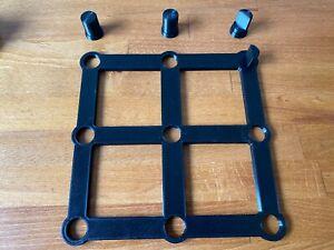 Bohrlehre Schablone 3x3 Multifunktionstisch Werkbank für Festool MFT 20mm 96mm