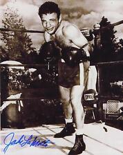Jake Lamotta signed b&w boxing photo
