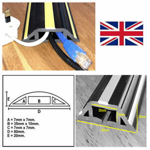 Floor Cable Cover Protector | Rubber Safety Trunking | Wire lead trip bumper