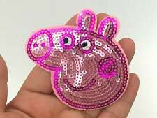 Peppa Pig Sequin Applique Patch Iron On Scrapbooking Craft Supplies USA Seller