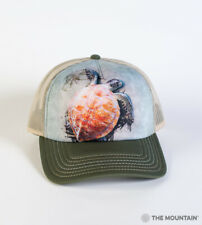 The Mountain Sea Turtle Climb Adult Graphic Foam Trucker Hat, Green, Adjustable