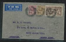 GREAT BRITAIN (P3006B) 1934  KGV 2/6 SEA HORSE +6D+1/-  A/M TO ARGENTINA